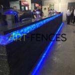 ART-fences, schanskorven op maat, glasbrokken, LED-verlichting