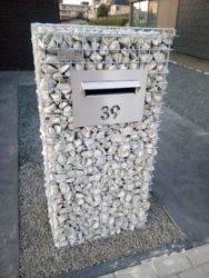 schanskorf brievenbus, steenkorven brievenbus, brievenbus in schanskorven
