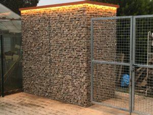 steenkorven, verlichte steenkorven, LED-verlichting, ART-fences