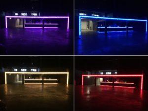 steenkorven, LED verlichting, glasstenen