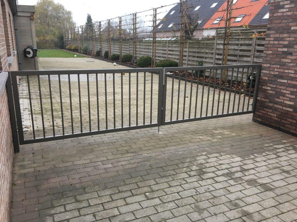 spijlenpoort, moderne poort, design poort, klassieke poort, strakke poort, poorten op maat