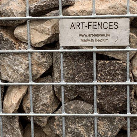 schanskorven opvulling, breuksteen, ART-fences